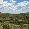 Looking to the southwest after passing the entrance signage at Chaco Canyon.  The main park and ruins are to the northeast (the other direction)