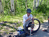 A guide's job is never done.<br /> Chris takes a moment to change his own flat.