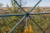 View towards Town of Temagami from part way up the tower.