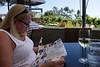 Afternoon meal at Callaways. Neighboring vineyard.