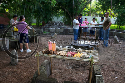 The Sacred Circle with the altar in the center. Costa Azul, Sonsonate, El Salvador.