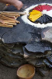 The altar is almost ready. Costa Azul, Sonsonate, El Salvador.