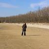 Andrea on Sandbanks Provincial Park beach