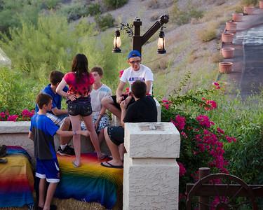 Kids outside Rustler's Roost 7328