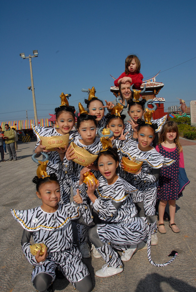 The Dancing Girls with Golden Dumplings at Temple...Quinn ran away from this picture