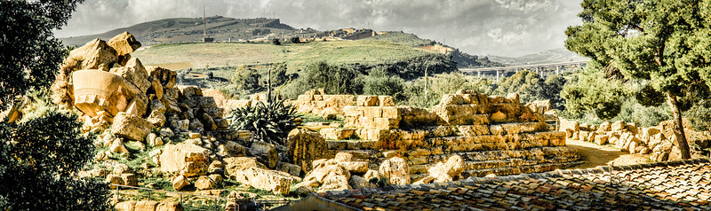 Hercules Temple ruins in Agrigento, Sicily