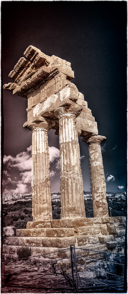 Temple of the Twin gods, Castor and Pollux, in Agrigento Sicily.