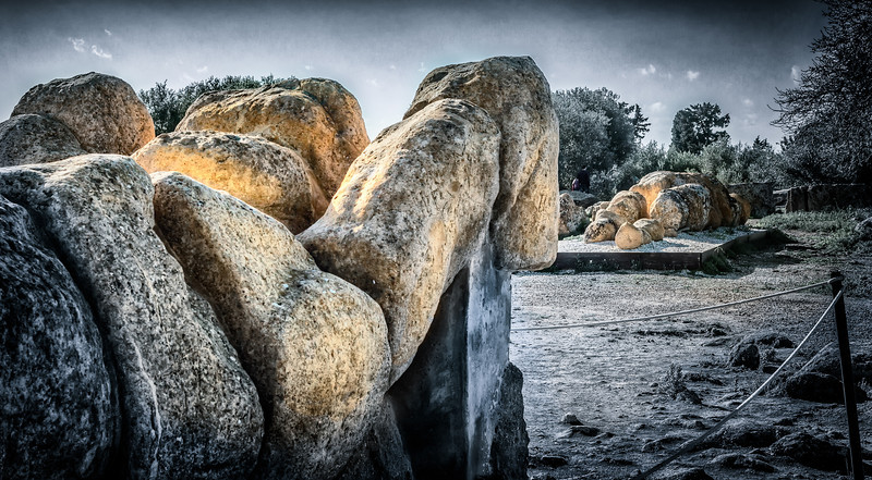 Telamon statues, little remnants of the enormous Zeus temple in Agrigento, Sicily.