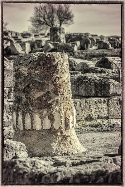 Temple of the Chtonian Deities in Agrigento, Sicily.