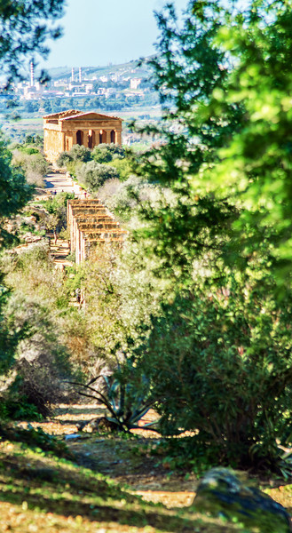 The Temple of Concord in Agrigento Sicily. One of the best conserved Greek temple to date.