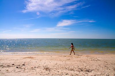 private beach on Big Hickory island in Estero Bay