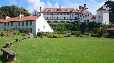The beautiful monastery on Caldey Island