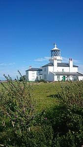 The lighthouse on Caldey Island