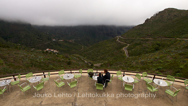 Table with a view: Masca Valley and Parque Rural de Teno