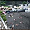 Playa San Marcos.....San Marcos Beach with black volcanic sand
