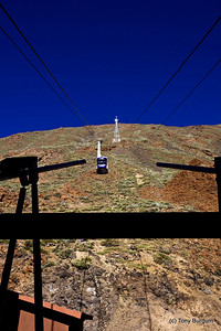 Mount Teide cable car.