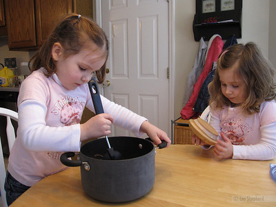 Madeline and Ansley-makin' cookies