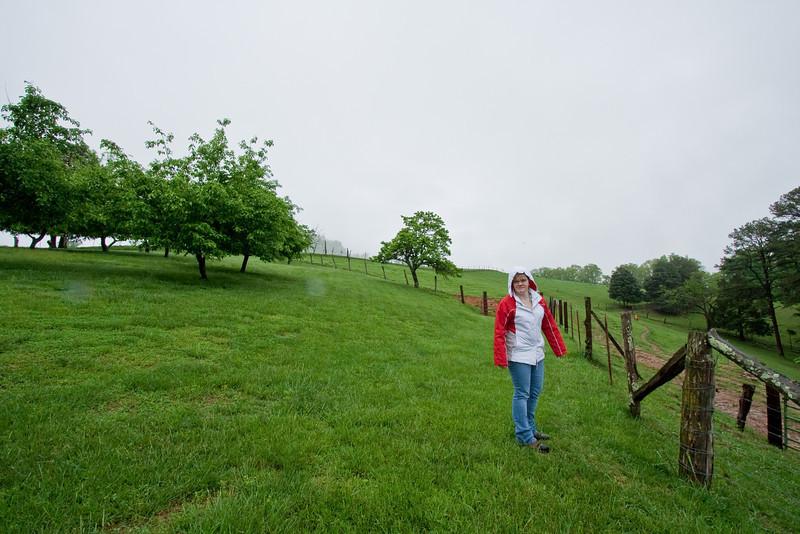 Jennifer on Willie's farm, Tazewell