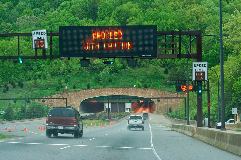 Cumberland Gap Tunnel entrance. Just opened in 1996.