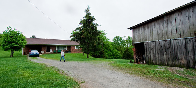 Willie's house and barn.