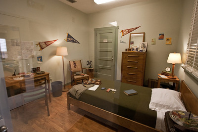 Example of a dorm room during World War II at Oak Ridge, Tennessee.