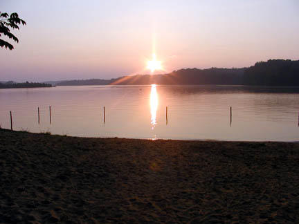 Dawn over Tellico Lake<br /> Notchey Creek Campground, TN