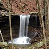 Emory Gap Falls from the opposite side of the creek.<br /> Frozen Head State Park, TN