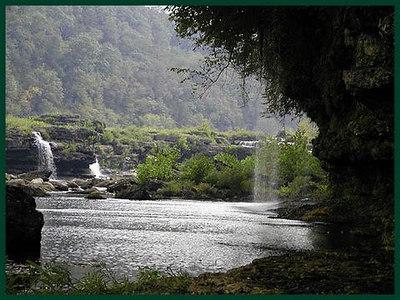 Garden of Eden Spray Cliff at Rock Island State Park, TN <br /> Just below Great Falls