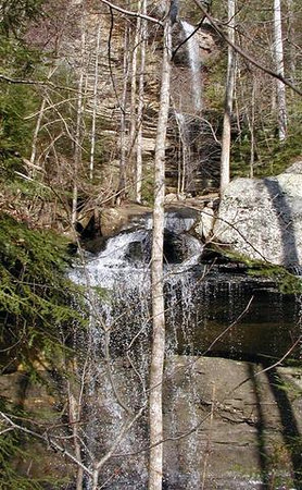 Deer Gap Falls in its entirety<br /> Deer Gap TN