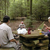 Stopping for lunch at Spider Den along Piney River Trail TN 9/13/08