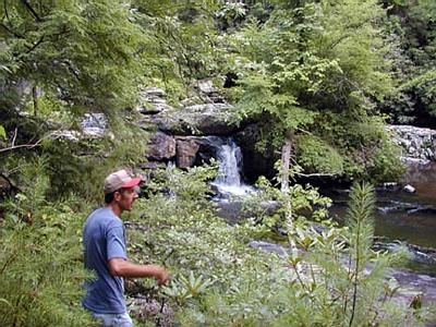 Kenny at Hiding Place Falls, Coker Creek, TN