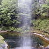 Standing directly behind Upper Piney Falls @ low water<br /> The plunge pool is foamy.<br /> 9/13/08