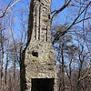 Chimney from the 2nd home atop Black Mountain. The Cumberland Trail passes right by it today.  The spring house is across from it.