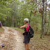 Carol ready to hit the trail<br /> Piney River Trail hike 9/13/08