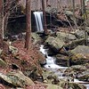 View of Emory Gap Falls in its entirety. Frozenhead State Park, TN. This falls is about 25 ft high.