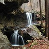 Emory Gap Falls from a different vantage point. This was taken by Kenny and shows how the falls drops off beside a large rock house. Frozen Head State Park, TN