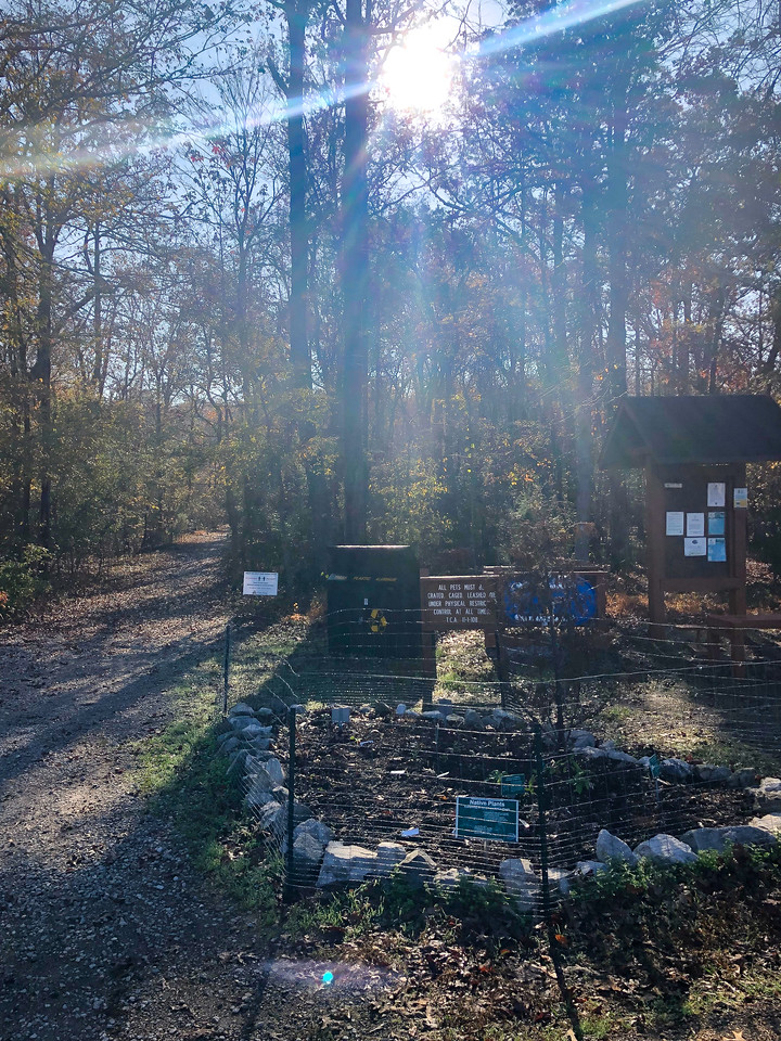 Signs at the entrance to the trail.