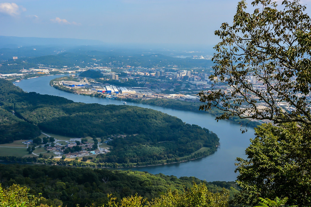 View of Chattanooga, TN from atop Lookout Mountain.