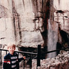 Benjamin at Waterfall - Rock City, Chattanooga, TN - 4/5/85