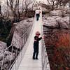 Benjamin on Suspension Bridge - Rock City, Chattanooga, TN - 4/5/85