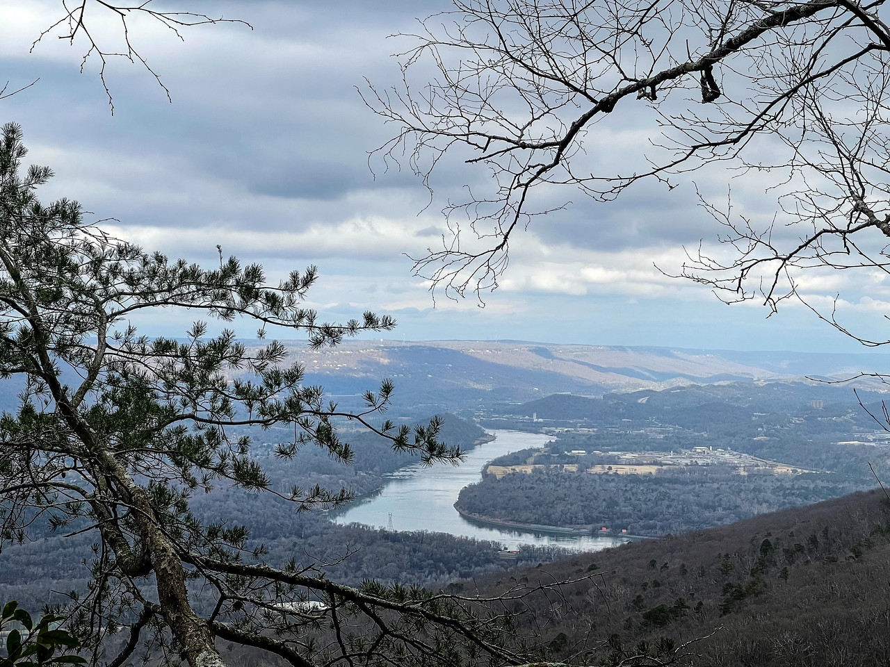 A view of the river from the mountain.