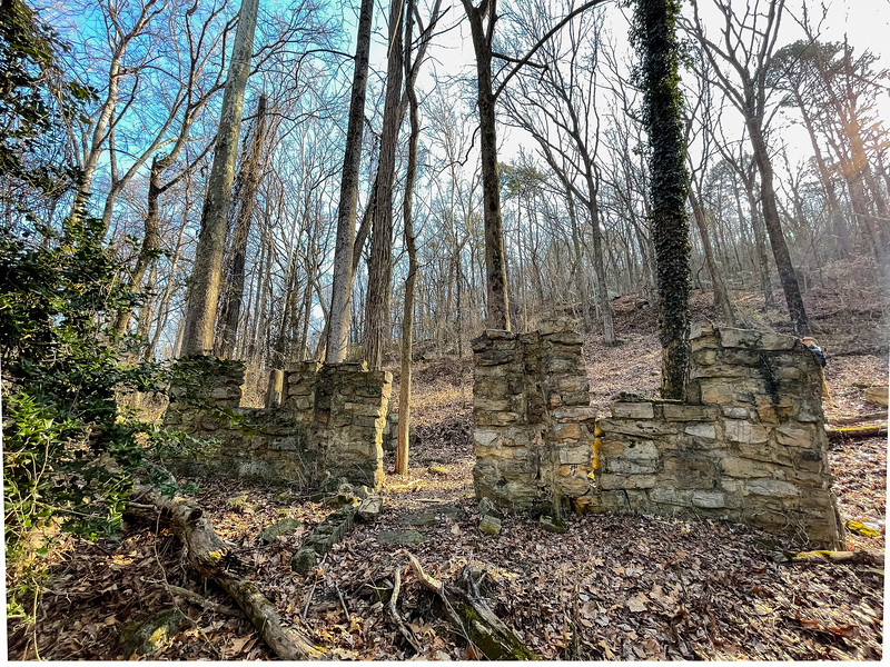 Remnants of old stone building.