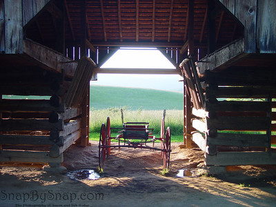 A carriage in a barn in the Great Smoky Mountains National Park.