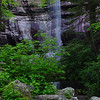 Rainbow falls in the Great Smoky Mountains National Park.