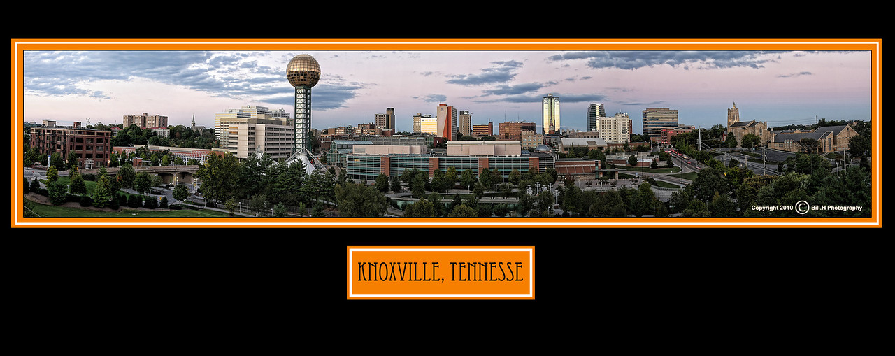 Panoramic shot of Downtown Knoxville 2010 (poster version)