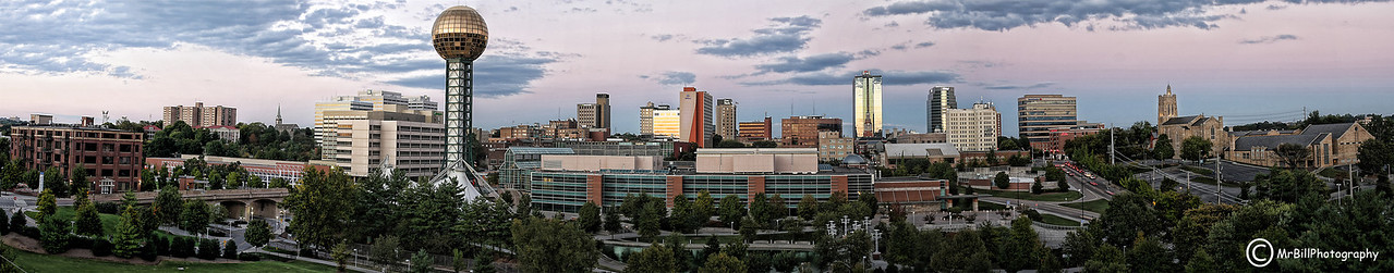 Panoramic shot of Downtown Knoxville 2010