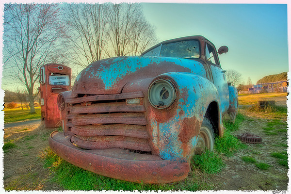 Old pickup & pump