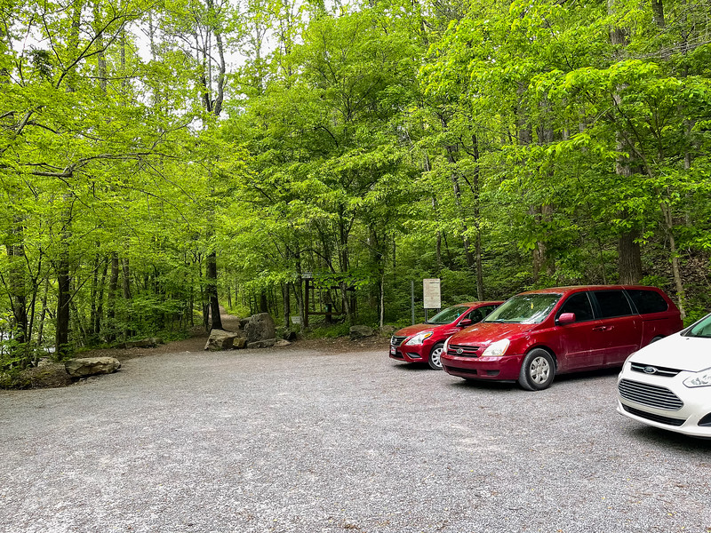 Parking lot at Laurel Falls.