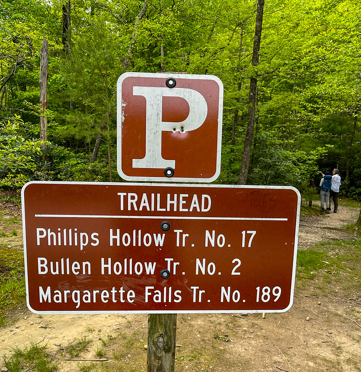 Photo showing trailhead and trails on hike.