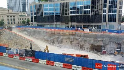 Building Construction Downtown Nashville